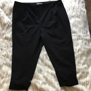 NWOT Asos Black Pleated Front Cigarette Pant - 20